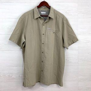 Columbia Mens Micro Check Button Down Shirt